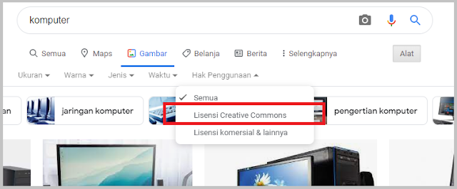 cara mendapatkan gambar gratis dari google