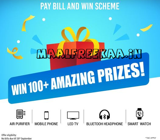 Tata Power pay bill and win scheme contest