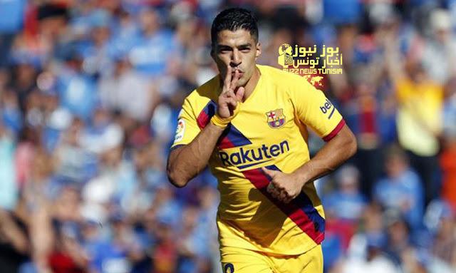برشلونة يخطف فوز ثمين من خيتافى بهدفين مقابل صفر 2-0 في الدوري الإسباني.