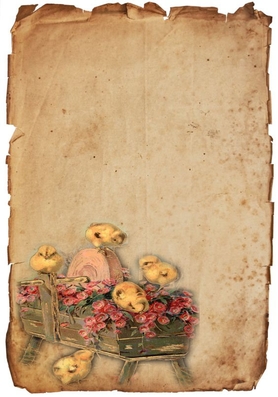 foto de pergaminos o papeles antiguos con imágenes de pascuas