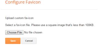 add favicon on blogspot