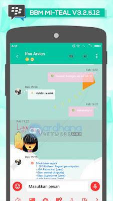 BBM Mi Teal V3.2.5.12