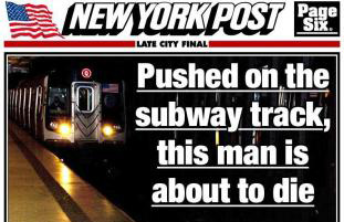 Photography News New York Post Runs Pic Of Man About To Be Hit By