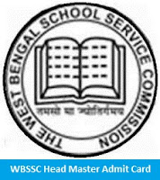 WBSSC Head Master Admit Card