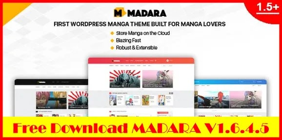 Download Free Madara v1.6.4.5 – WordPress Theme for Manga