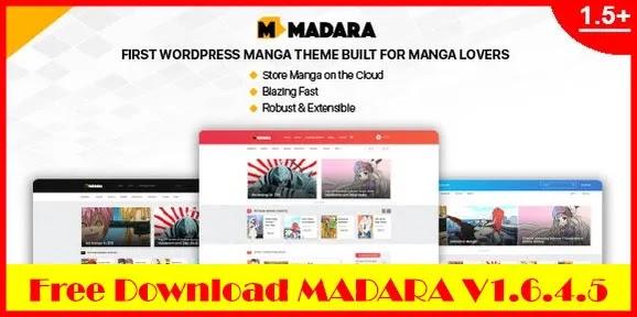 Download Free Madara v1.6.4.5 – WordPress Theme for Manga