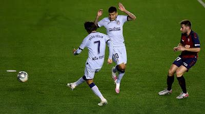 اهداف وملخص مباراة اتليتكو مدريد واوساسونا فى الدوري الاسباني