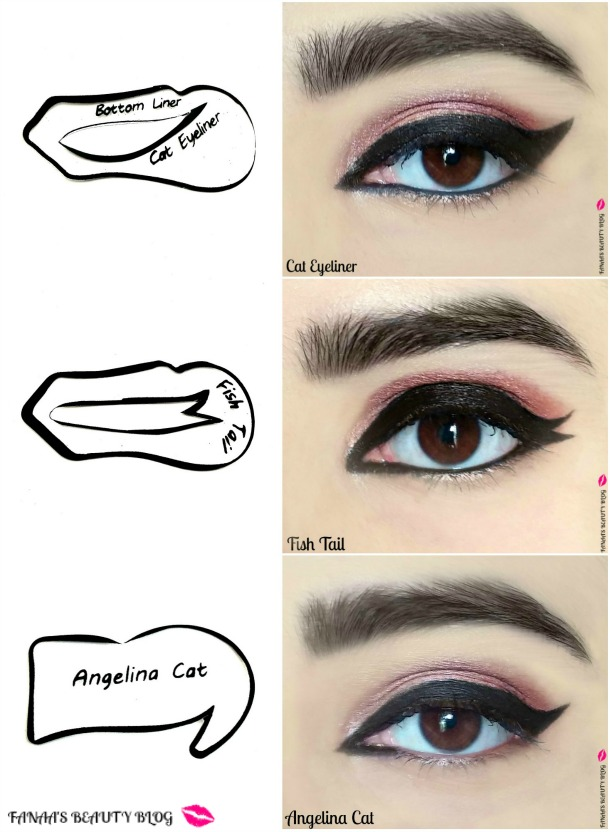 Eyeshadow Template: Winged Eyeliner Stencil Guide,Quick No Mess Perfect Cat
