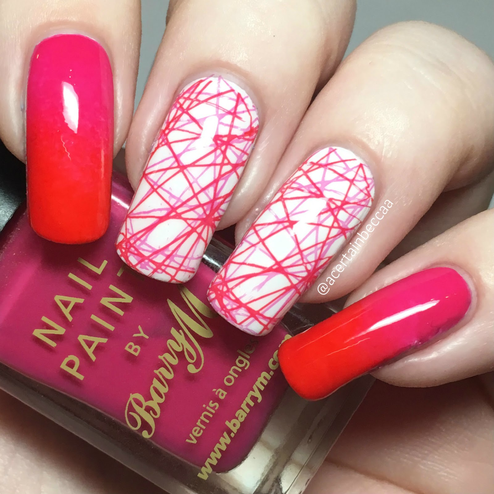 A Certain Becca Nails: 26 Great Nail Art Ideas - Red and Pink