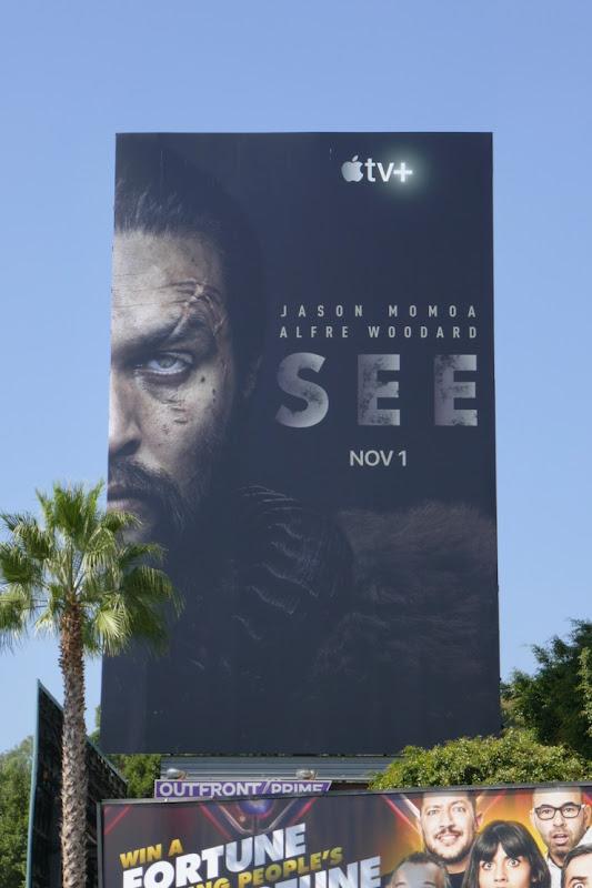 Jason Momoa See Apple TV+ launch billboard