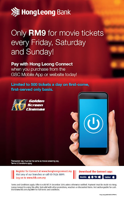 Hong Leong Bank Connect GSC Movie Ticket Promo