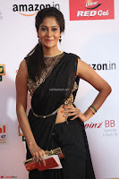 Sindhu looks fabulous in Black Saree designer choli at Mirchi Music Awards South 2017 ~  Exclusive Celebrities Galleries 036.JPG