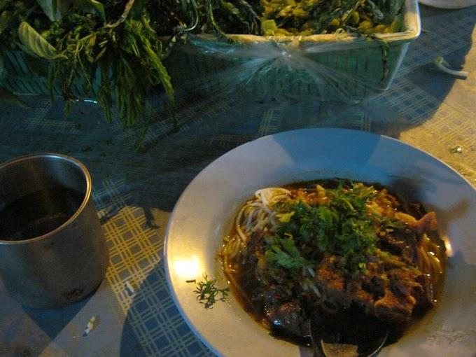 即席麺で作る東南アジア風ラーメン