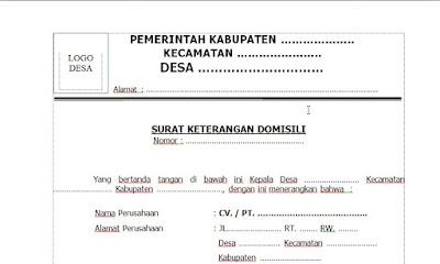 Contoh Surat Keterangan Domisil Perusahaan Dari Desa