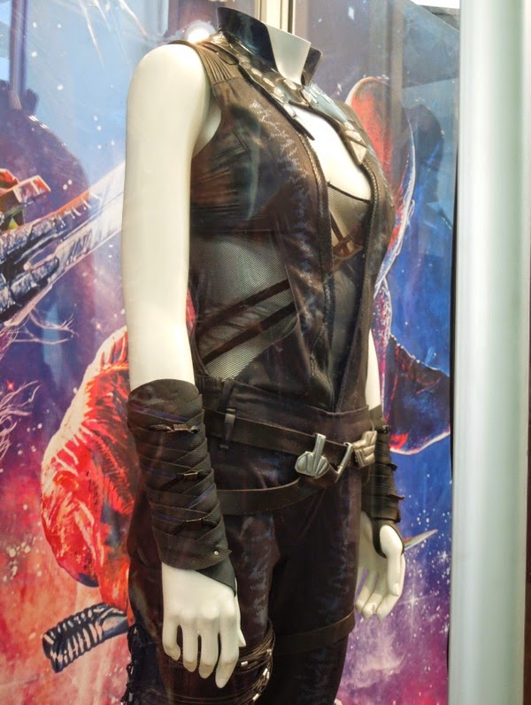 Gamora Guardians of the Galaxy movie costume detail