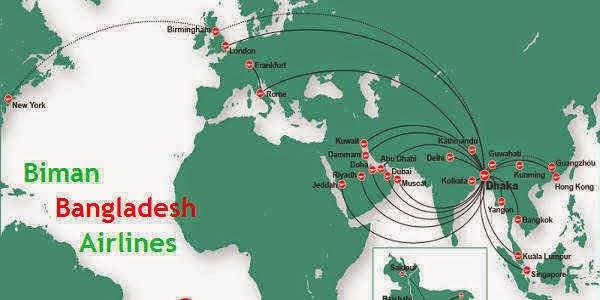 All International Flight Fares of Biman Bangladesh Airlines