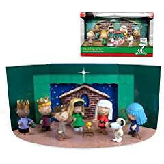 Charlie Brown Christmas nativity pageant #christmastimeishere #christmasmusic #learnyourchristmascarols #charliebrownchristmas #nativityset available on Amazon