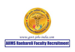 AIIMS Raebareli Faculty Recruitment 2020