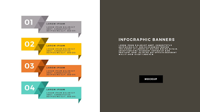 Free Infographic Geometric Banners Powerpoint Template Slide 5
