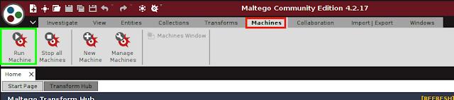 Inicio intensidad Maltego
