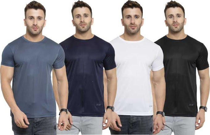Rs,599/- Solid Men Round Neck Multicolor T-Shirt  (Pack of 4)