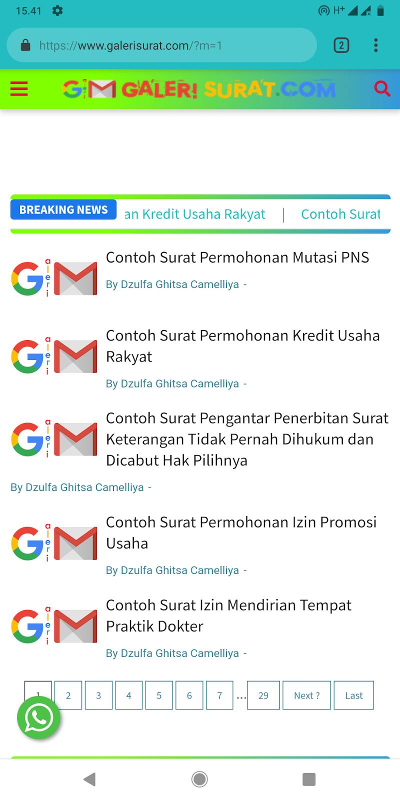Widget Headline Breaking News MJM