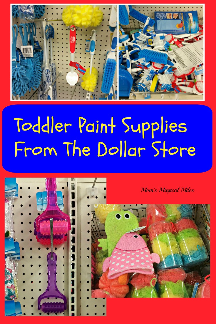 Creative painting with toddlers doesn't need to break the bank!  Whether you're a mom or a preschool teacher, you can stock cool art supplies on the cheap!