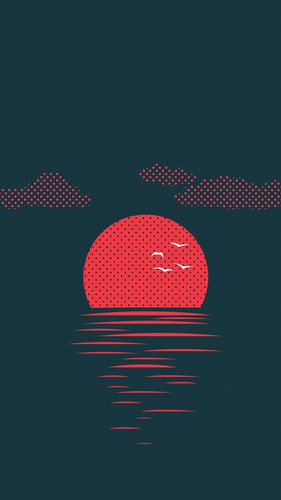 Sunset minimalist wallpaper