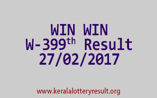 WIN WIN Lottery W 399 Results 27-2-2017