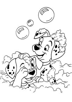 Dogs coloring pages 43