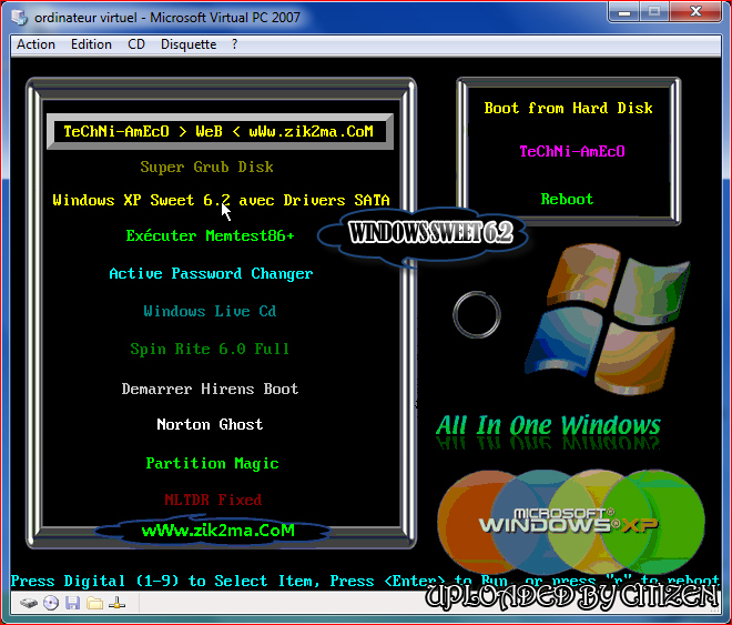 windows xp sweet 6.2 final français iso startimes