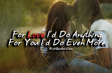Love Quotes | For You I'd Do more Couple Kiss Hug Couple In Park