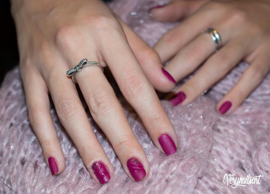 diseño de uñas mate