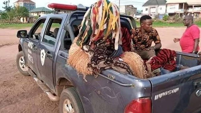 Breaking.... POLICE ARREST MASQUERADE THAT DEFIED STAY AT HOME ORDER