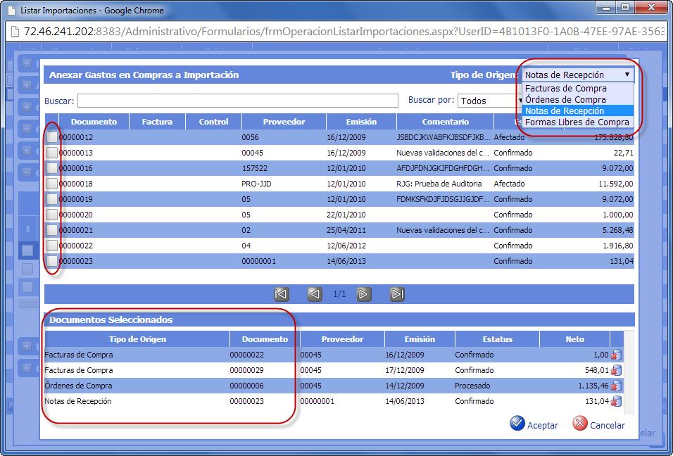 Anexar Gastos en Compras - Gastos de Importación de eFactory ERP/CRM