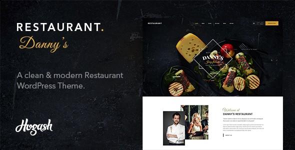 Restaurant Dannys Responsive Wordpress Themes