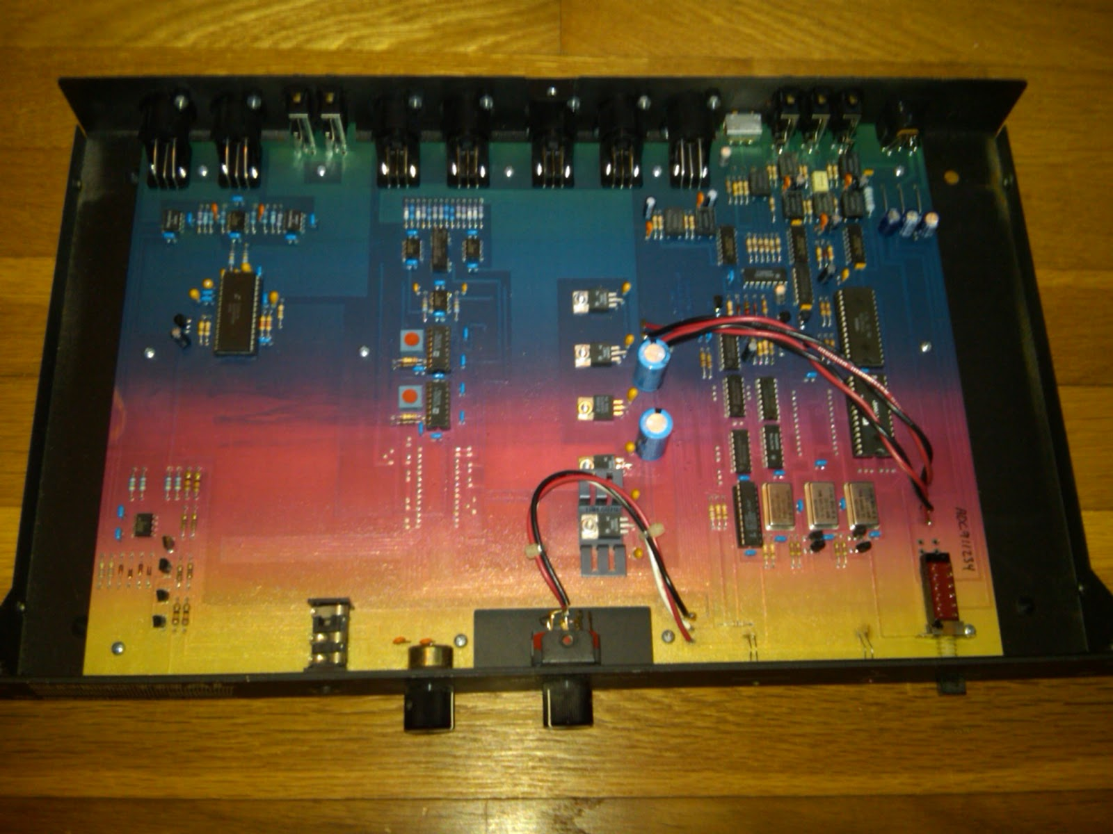 Ee Proto Example Circuit Boards Fiberglass Board The Pcb Inside A Spectral Synthesis Adda2218 An 18 Bit Analog To Digital Audio Converter Which Uses Colored Fr4 Color Isnt Just Painted On