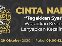 "DAFTAR SEGERA EVENT MAULID ONLINE ""CINTA NABI CINTA SYARIAH"" KAMIS, 29 Oktober 2020, Pukul 09.00 sd 12.00 WIB"