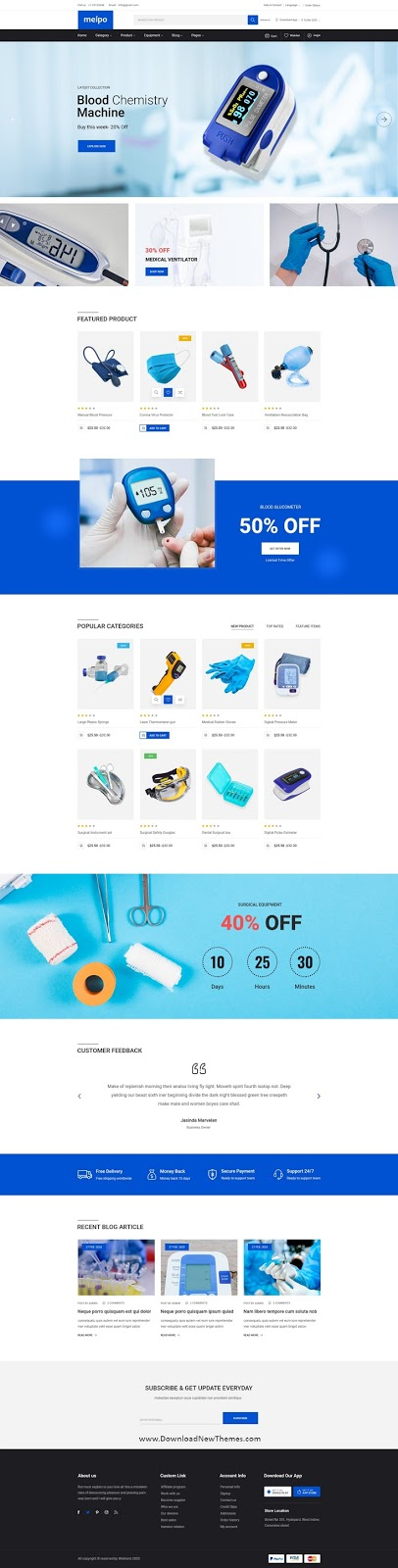 Medical Store Template