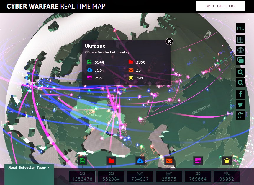mapa tempo real Mapa interativo de ataques virtuais em tempo real da Kaspersky  mapa tempo real