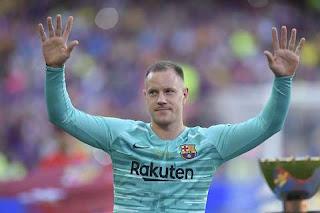 Barcelona's Marc-Andre ter Stegen has more league assists than Hazard, Ronaldo and Ozil this season