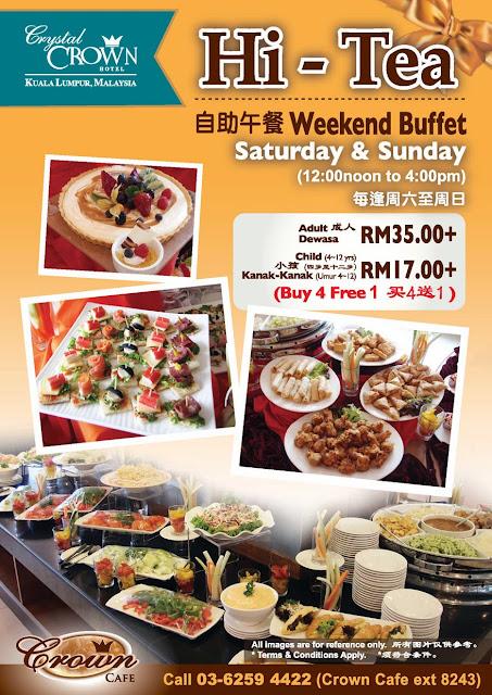 Hi Tea Buffet At Crown Cafe Crystal Crown Kl Malaysian