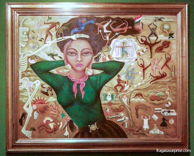 """""""Autorretrato"""" da pintora mexicana Rosa Rolanda"""