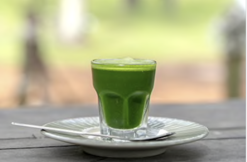 healthy drink for Loose Weight (Wheat Grass-Spinach Juice)