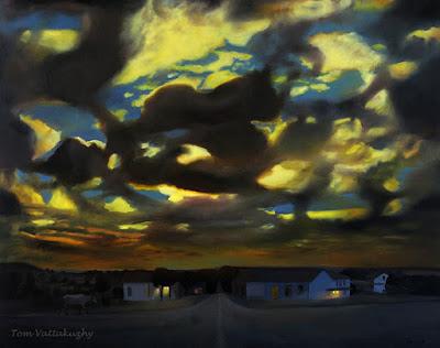 Evening, Oil on canvas-155x193cm -HuesnShades