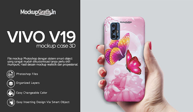 PSD Mockup Custom Case 3D VIVO V19