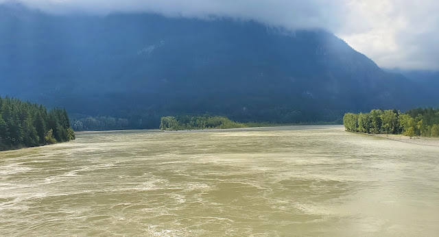 Crossing Fraser River on Hope BC Canada