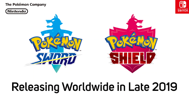 Pokémon Sword Shield logos Nintendo Switch