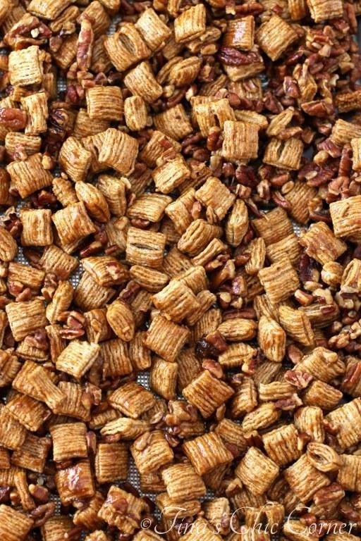 Praline Pecan Crunch Snack Mix Recipe