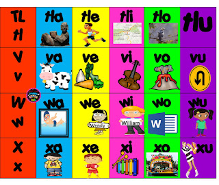 silabario para imprimir en word